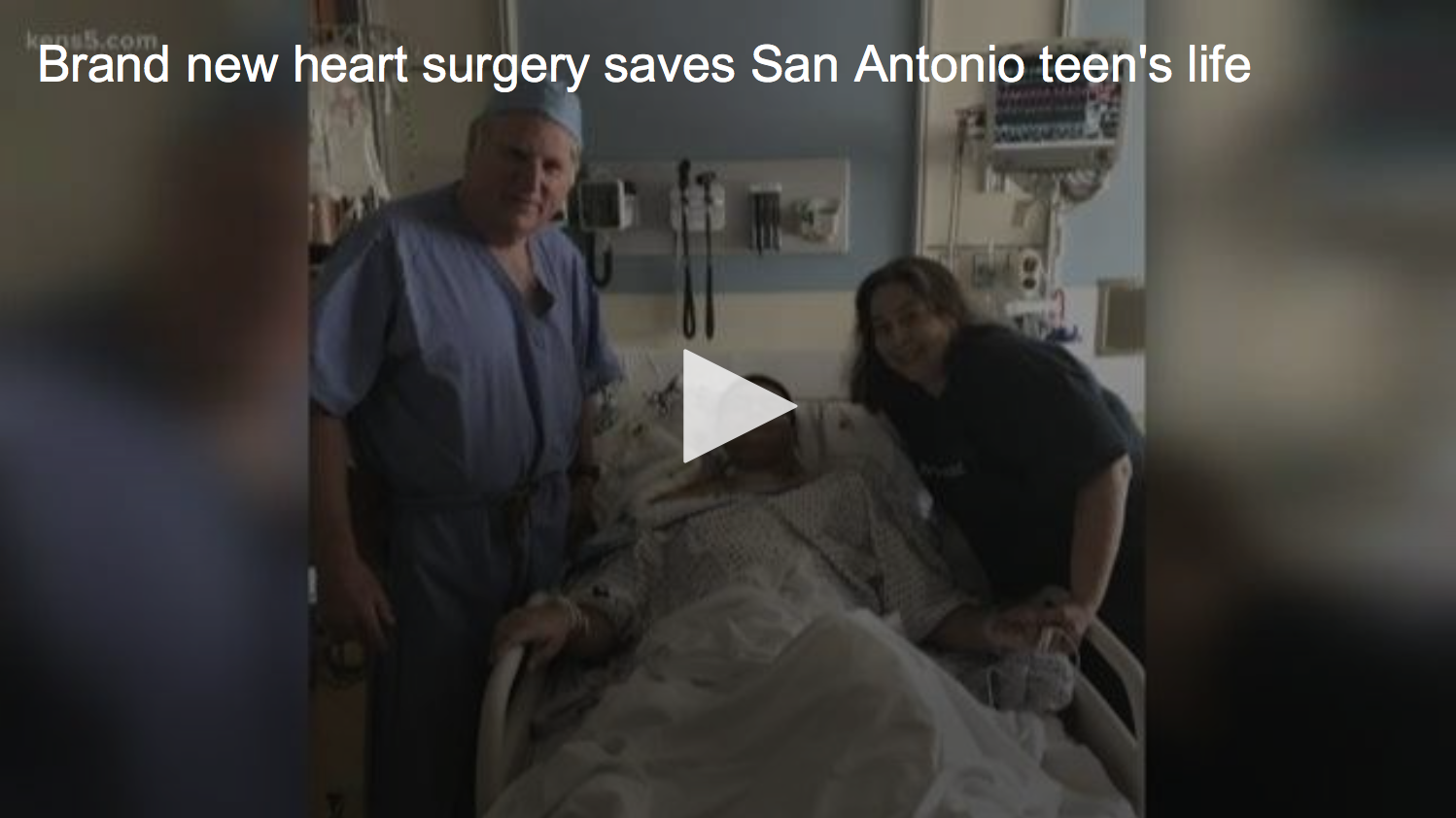 Video from CBS KENS-5 TV reports on new heart surgery that saves San Antonio teen's life